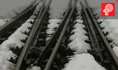 heat trace freeze protection for rail tracks